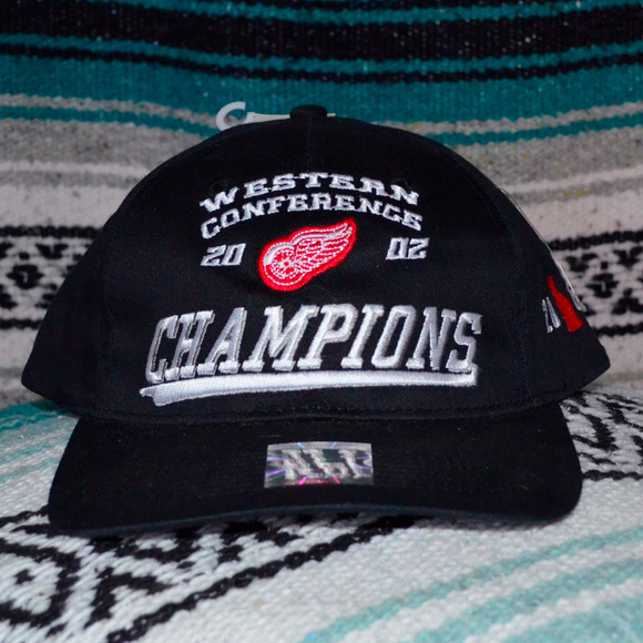 Detroit Redwings Hat Western Conf Champs 02 NwT 8c5688490bff